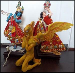 Radha-Krishna and Garuda Panchami murti