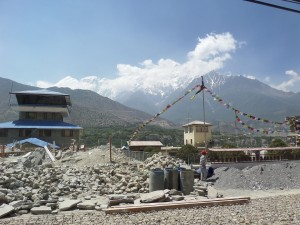 "Jomsom Airport. To wit, ""flying low"" is a very relative term in the Himalayas."