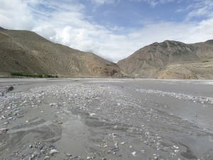 The Kali-Gandaki River at Kagbeni